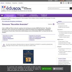 """À la croisée des disciplines scientifiques - Concours """"Nouvelles Avancées"""""""