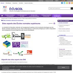 Sites experts des disciplines - Écoles normales supérieures