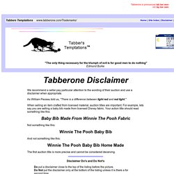 Trademark Law - Disclaimers - Tabberone Disclaimer