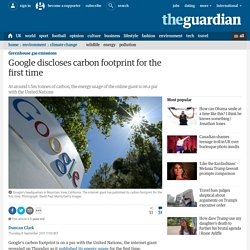 Google discloses carbon footprint for the first time