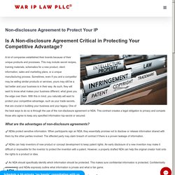 Non-disclosure Agreement Critical in Protecting Your Competitive Advantage
