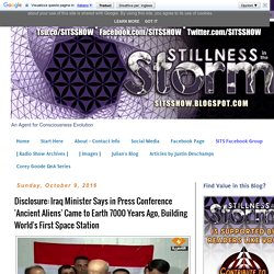 Disclosure: Iraq Minister Says in Press Conference 'Ancient Aliens' Came to Earth 7000 Years Ago, Building World's First Space Station