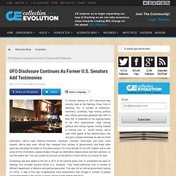 UFO Disclosure Continues As Former U.S. Senators Add Testimonies