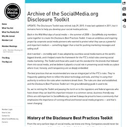 Disclosure Toolkit