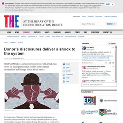 Donor's disclosures deliver a shock to the system