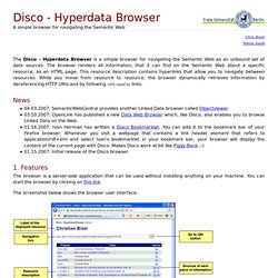 Disco Hyperdata Browser