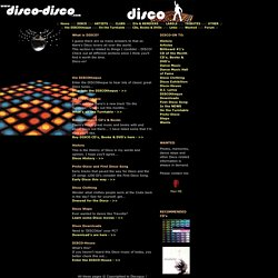 Disco-Disco.com - Where DISCO Dance steps, Clothing, History and Music come alive!