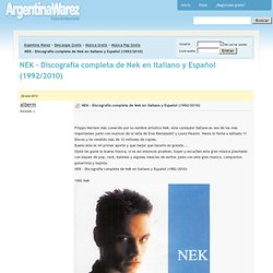 NEK - Discografia completa de Nek en Italiano y Español (1992/2010) Descargar Gratis