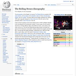 The Rolling Stones discography