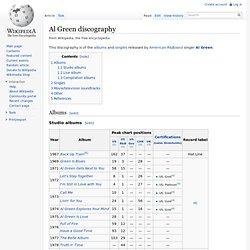 Al Green discography