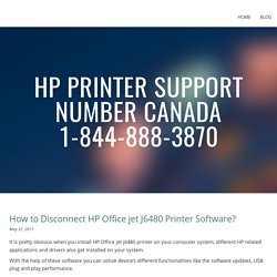 How to Disconnect HP Office jet J6480 Printer Software?