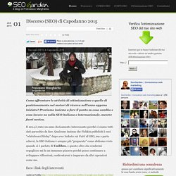 Discorso (SEO) di Capodanno 2015