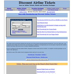 Discount Airline Tickets