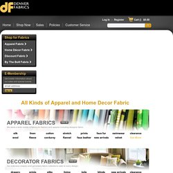 Discount Fabrics: Fabric for Apparel, Home Decorating and More