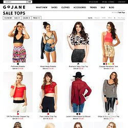 Find trendy discount tank tops, halter tops, and tube tops at GoJane!