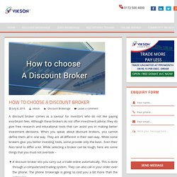 How to Choose a Discount Broker