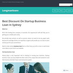 Best Discount On Startup Business Loan In Sydney – Longmanloans