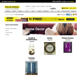 Discount Home Decor - Discount Window Curtains From Dollar General