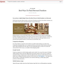 Best Ways To Find Discount Furniture