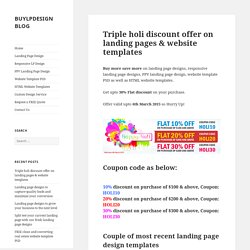 Get up to 30% discount on landing page designs on Happy Holi