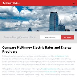 Compare Discount McKinney Electric Rates and Plans