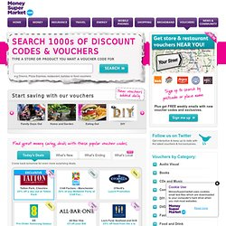 free discount codes & money off vouchers – moneysupermarket
