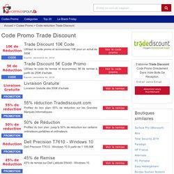 Code promo Trade Discount