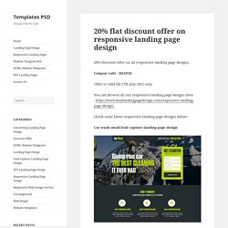 20% flat discount offer on responsive landing page design