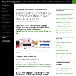 special discount offer on responsive landing page design templates