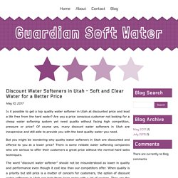 Discount Water Softeners in Utah