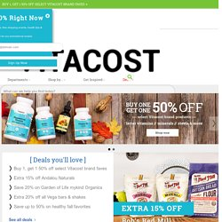 Discount Vitamins, Supplements, Health Foods, Whole Foods and Sports Nutrition online, Vitacost