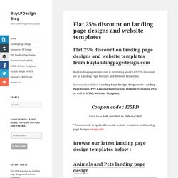 Flat 25% discount on landing page designs and web templates