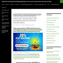 20% flat discount on landing page design templates & website templates