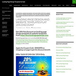 flat 20% discount offers on landing page design templates
