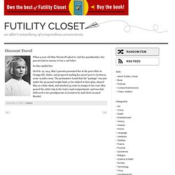 Discount Travel |Futility Closet