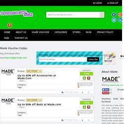 Made.Com Discount Voucher Codes 2015