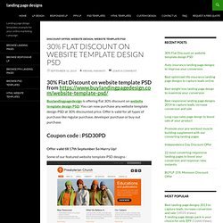 30% Flat Discount on website template design PSD