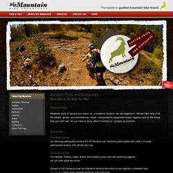 Custom Trips and Discounts - Big Mountain Bike Adventures