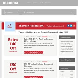 information Thomson voucher codes