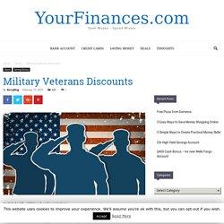 veterans discounts