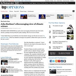 John Boehner's discouraging words on climate science