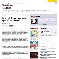 """Maroc : """"le discours royal n'a pas répondu à nos attentes"""""""
