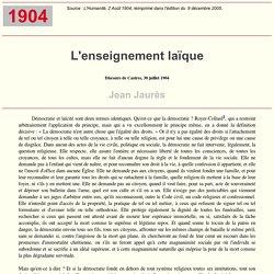 J. Jaurès : Discours de Castres, 30 juillet 1904 (1904)