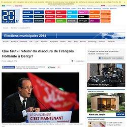 Que faut-il retenir du discours de François Hollande à Bercy?