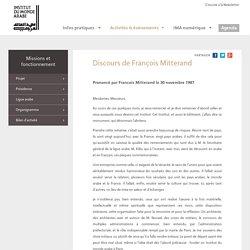 Discours de François Mitterand