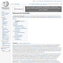 Discours de Grenoble