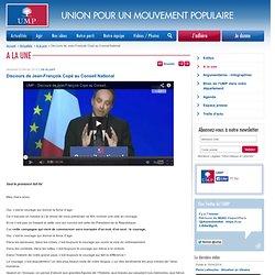 Discours de Jean-François Copé au Conseil National