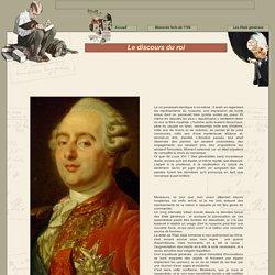 Le discours de Louis XVI à l'ouverture des Etats généraux de 1789