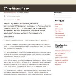 Le discours paradoxal - Harcèlement.org