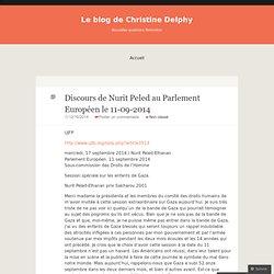 Discours de Nurit Peled au Parlement Européen le 11-09-2014